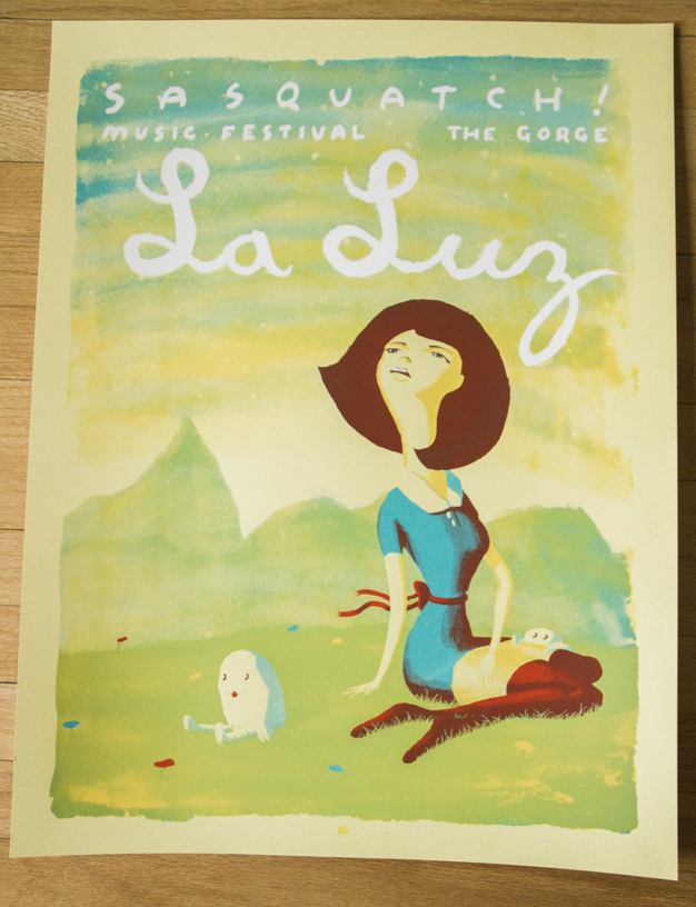 La Luz 2014 Sasaquatch Music Festival Screen Printed By Hand By Christopher Martin