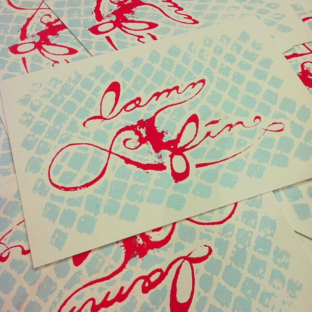 damn fine screen printed post card