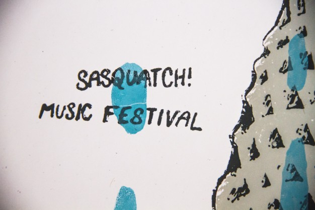 Sasquatch! 2013 Screen Print For Brothers From Another by Christopher L Martin